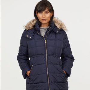 Black H&M MAMA Padded Puffy Jacket